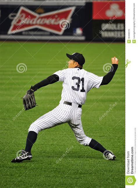 What Position Does Ichiro Suzuki Play Ichiro Suzuki Practice Throwing Stance Editorial Image