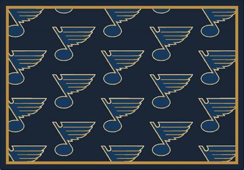 Area Rugs St Louis St Louis Blues Repeat Logo Area Rug