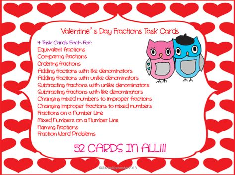 math valentines day cards mrs o knows january 2013