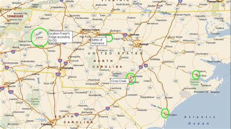 map of and carolina map of carolina and where fraser s ridge would be