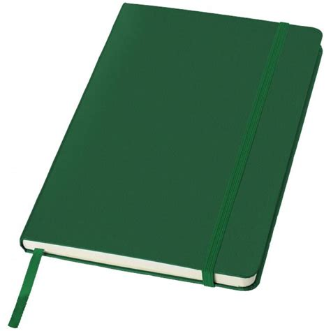 Printed Notebook A5 a5 printed notebook in green with elastic closure