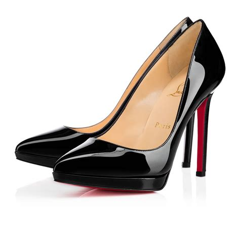 Shoes Christian Louboutin Po188 pigalle plato 120 black patent leather shoes