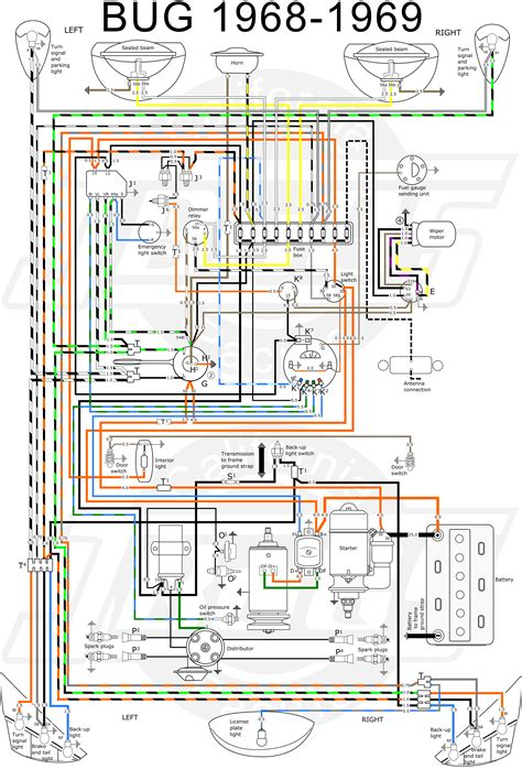 thesamba type 1 wiring diagrams and vw bug diagram