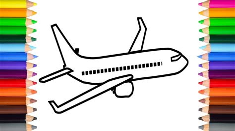 how to paint a l learn how to draw and paint a aeroplane for coloring