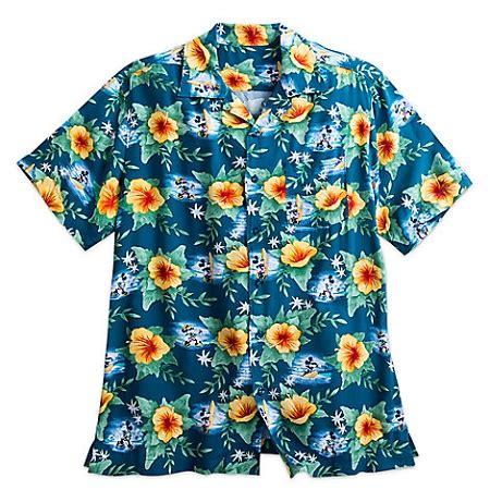 disney shirt for men mickey mouse hawaiian blue