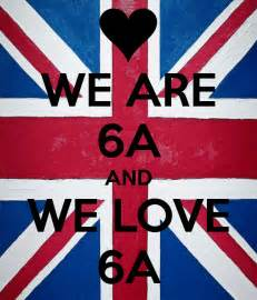 Decal Wall Stickers Uk we are 6a and we love 6a keep calm and carry on image