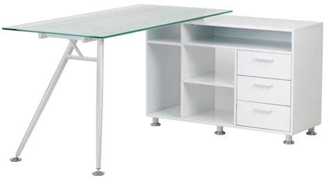 cl on desk shelf buy alphason augusta white premium glass furniture