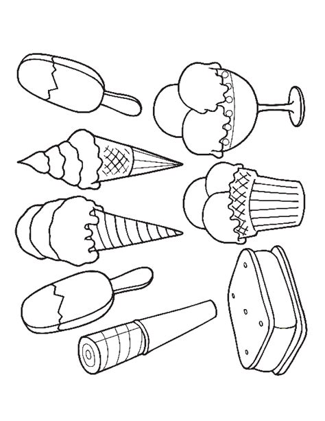 ice cream sandwich coloring page image for ice cream sandwich coloring pages food