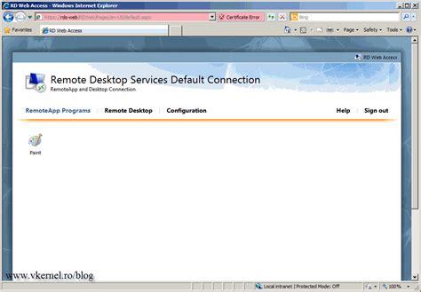 for rdp access configure remote desktop web access