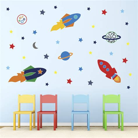 space rocket wall stickers space rockets wall stickers by mirrorin notonthehighstreet