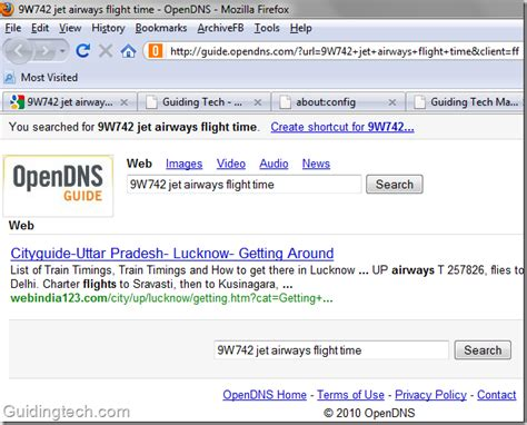 Firefox Default Search Address Bar How To Replace Opendns Search With In Firefox Address Bar