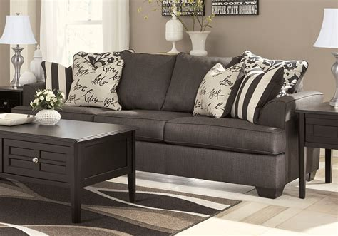 levon charcoal sofa levon charcoal sofa set cincinnati overstock warehouse