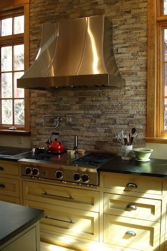 Stone Kitchen Backsplashes by Stone Backsplash For The Home Pinterest