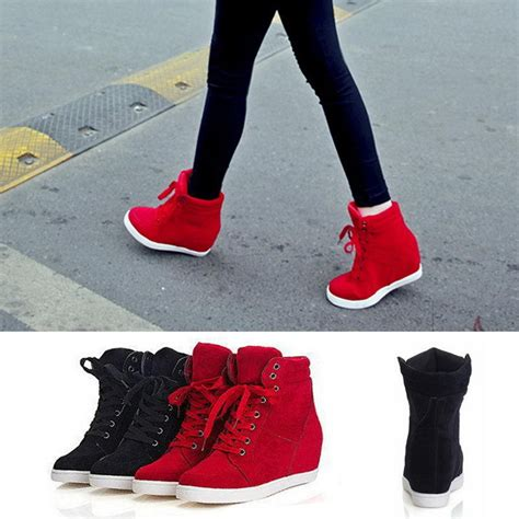 fashion s high top lace up athletic sneakers shoes