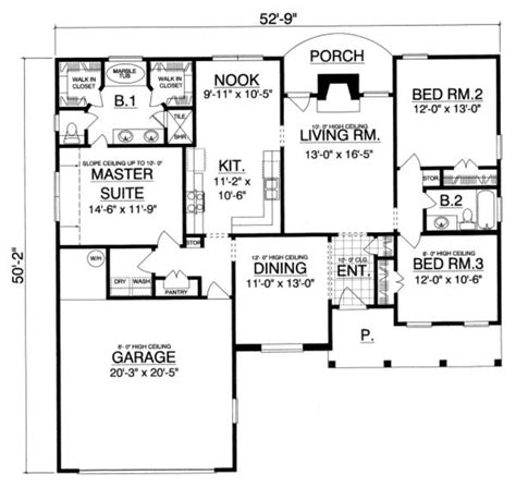 375 square feet country style house plan 3 beds 2 baths 1575 sq ft plan