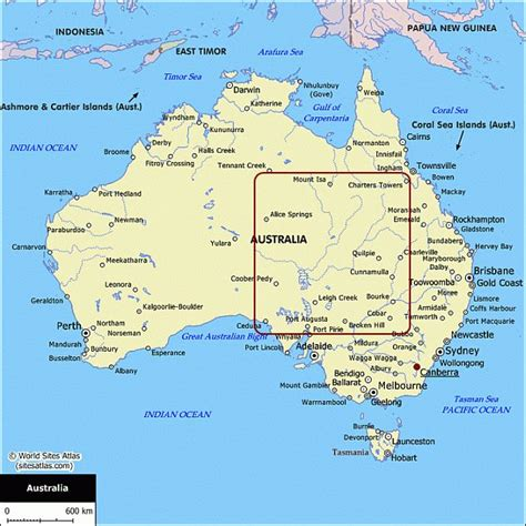 australia on a map map of australia australian maps for your trip planning