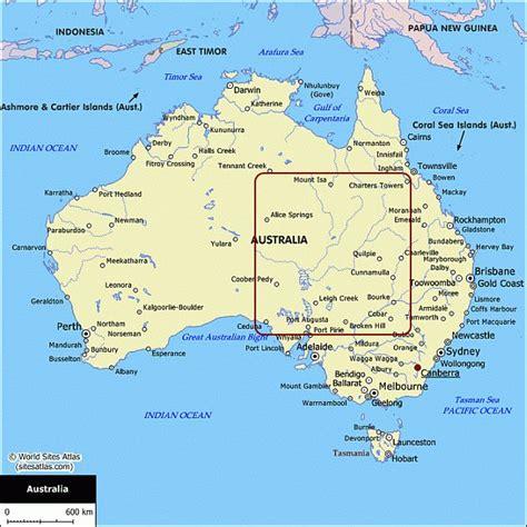 australia touring map map of australia australian maps for your trip planning