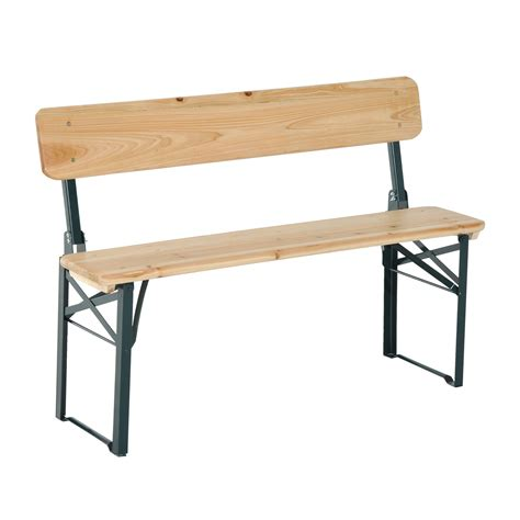 wooden folding bench outsunny 3 pc picnic table bench set aosom ca