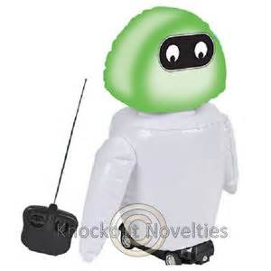 16 034 r c inflatable light up robot remot control inflate rob lights