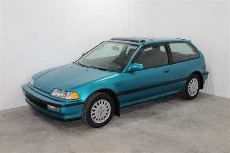 91 honda civic si low mileage tahitian green 91 civic si pristine condition for sale photos