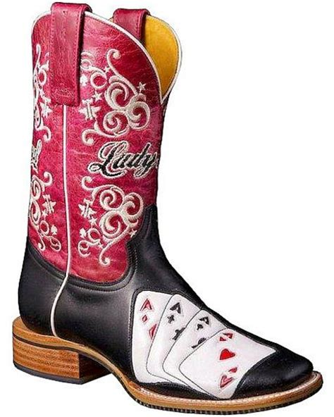tin haul lady luck vegas cowgirl boots square toe sheplers