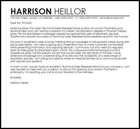 effective cover letter sles sales representative cover letter sles letter of