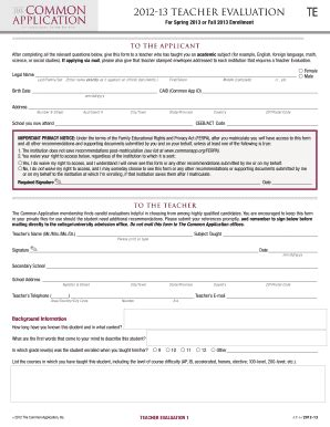 Letter Of Recommendation Common App common application letter of recommendation form