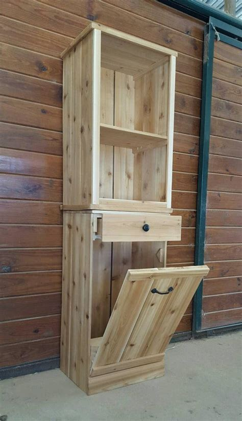 trash recycling bin cabinet wood best 25 trash can cabinet ideas on
