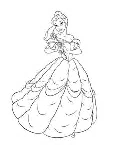 Belle Coloring Pages Printable sketch template
