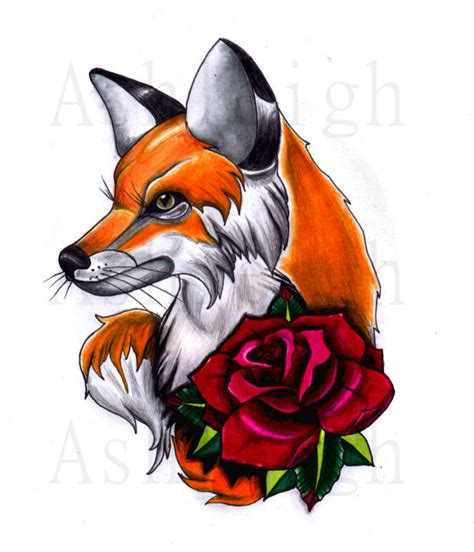 traditional fox tattoo traditional fox and by tattoosbyashleigh on deviantart