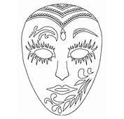 Mascaras De Carnaval Para Colorir  Imagens