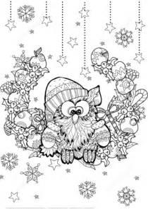 Ausmalbild Weihnachts Eule Zentangle Ausmalbilder