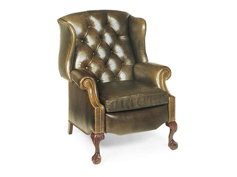 Wingback Recliner Chair by Hancock And Living Room Sterling Tufted Wing Chair