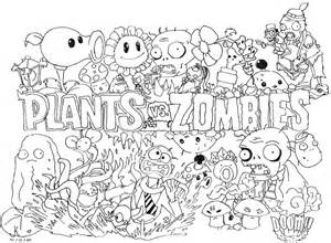 Plants Vs Zombies Coloring Pages sketch template