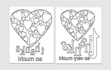 thank you card templates for pages easy printables thank you card templates 484848 171 coloring