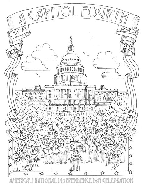 national monuments coloring pages   print