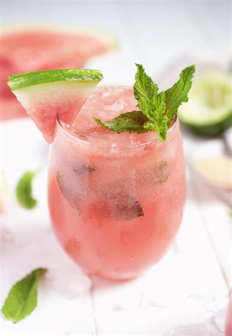 watermelon mojito watermelon mojito mocktail the merrythought