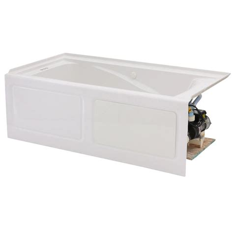 how to whiten a bathtub american standard everclean 60 in x 32 in left drain whirlpool tub in white 2425lc