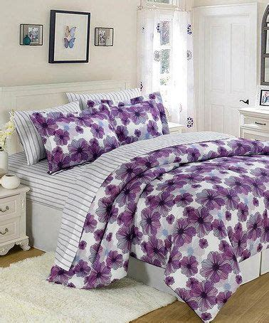 purple floral bedding purple white floral comforter set