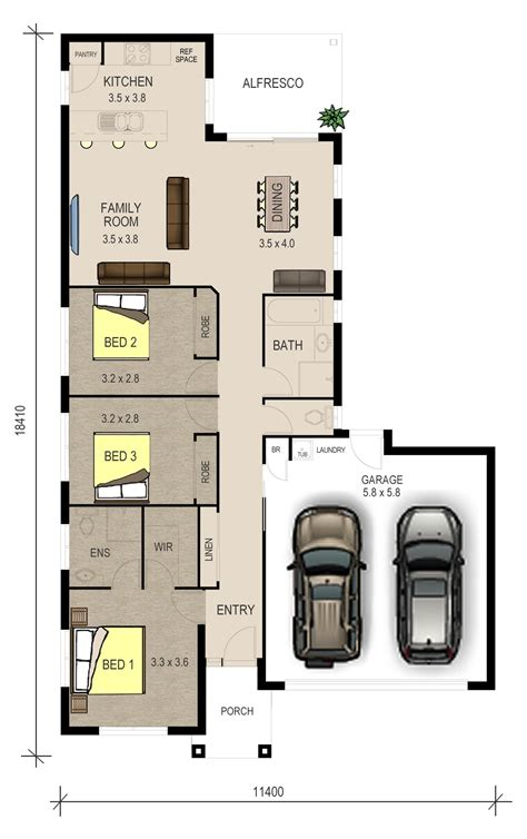 single storey floor plan single storey floor plan the ivy double ivy series pinterest modern house floor plans
