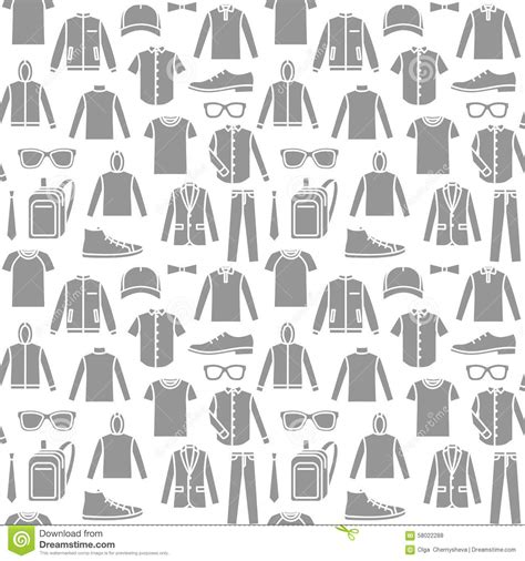 jeans pattern vector free endless clothes background stock vector image 58022288