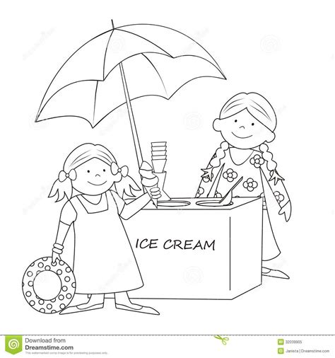 bad ice cream coloring pages ice cream stand coloring stock vector image of card