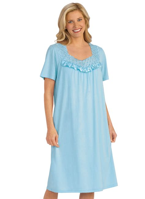 cotton knit nightgowns plus size cotton knit nightgown carolwrightgifts