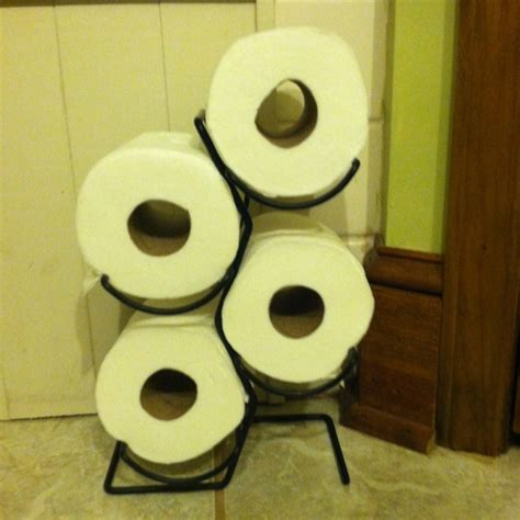 cute toilet paper holder 99 wine rack from goodwill makes really cute holder for
