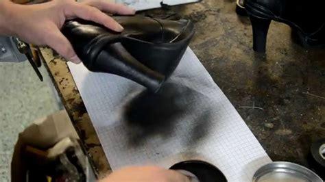 shoe repair boot heel surface damage