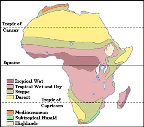 climate map of africa the grassland