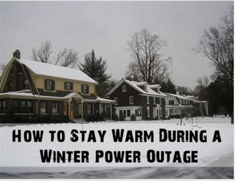 7 Ways To During A Power Outage by How To Stay Warm During A Winter Power Outage Musely