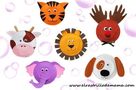 manualidades hechas con carton de animales manualidades con platos de papel