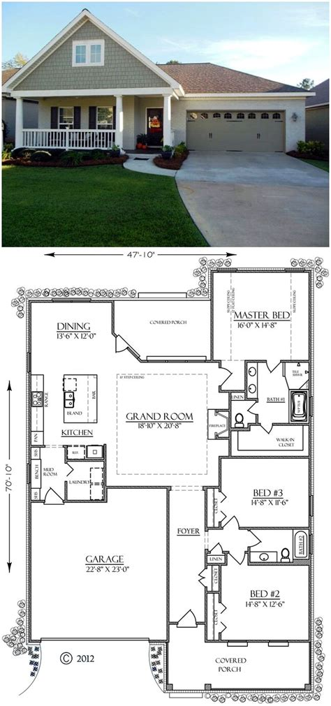 best bungalow floor plans two bedroom house plans with car garage pictures plan
