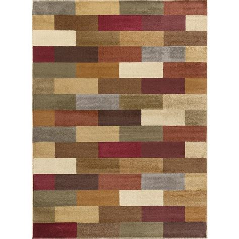 Modern Area Rugs 8x10 Tayse Rugs Elegance Multi 7 Ft 6 In X 9 Ft 10 In Contemporary Area Rug 5180 Multi 8x10 The